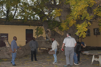 The team visits the home of Andries Waterboer in Griquatown