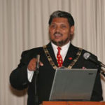 The Mayor of Camdeboo Local Municipality, Mr Daantjie Japhta, opening the Conference